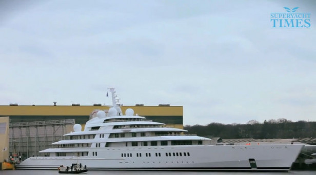 The Launch Of The 180m Lurssen Superyacht Azzam The World S Largest Yacht