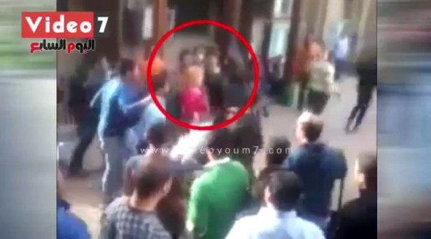 Cairo university student sexually harassed