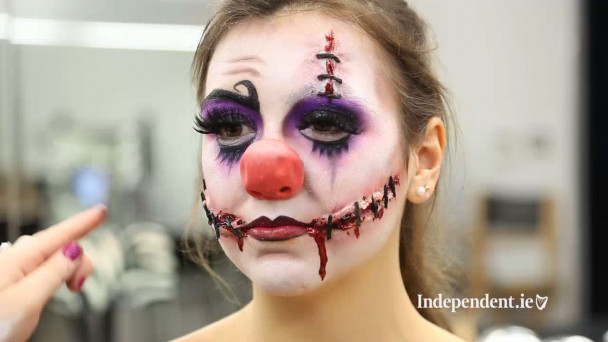 VIDEO: How to get a 'Creepy Clown' Halloween look with Chelsea smile