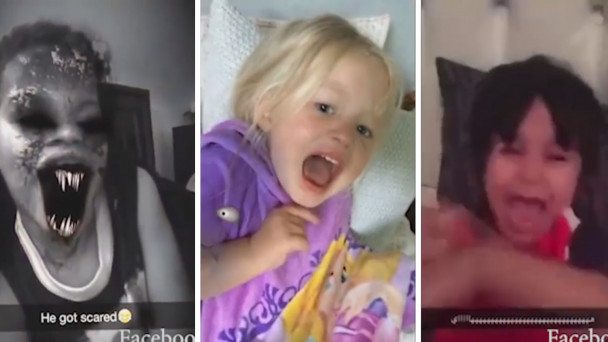 Hilarious or awful? - Video of parents scaring kids with snapchat filters  goes super viral