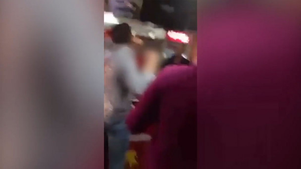 Video Watch Alarming Footage Of Gang Of Youths Causing Havoc At Newly Opened Apache Pizza