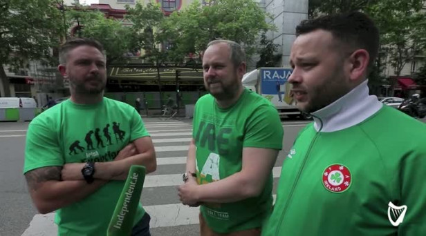583a972a41 Video  Irish fans filmed cleaning up after themselves as French say ...