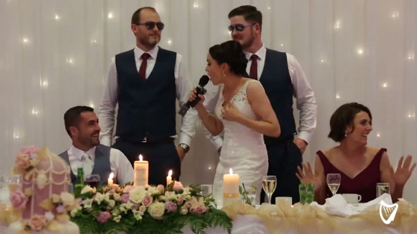 VIDEO: Best ever? Irish bride wows her groom with most original wedding  speech ever
