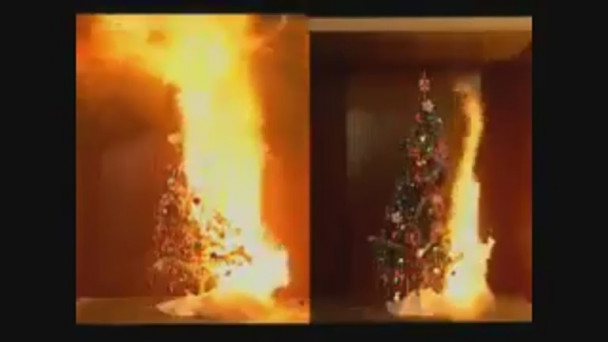 video shocking video shows how fast a christmas tree can go up in flames if its dry - When Does The Christmas Tree Go Up