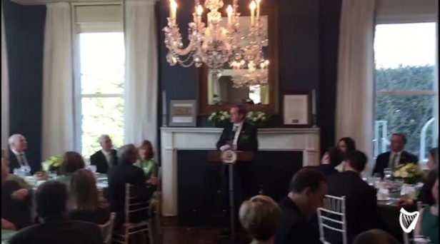WATCH: Enda Kenny Has The Crowd In Stitches With Witty Anecdote At Vice  Presidentu0027s Residence
