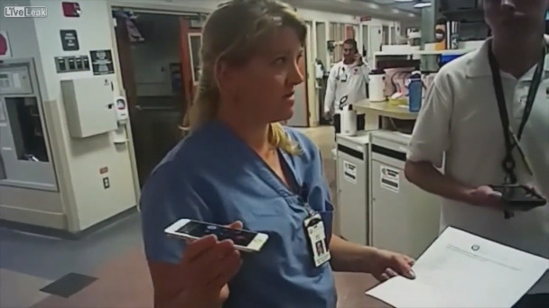 VIDEO: Nurse screams for help as she is arrested for saying she can't draw  blood from unconscious patient