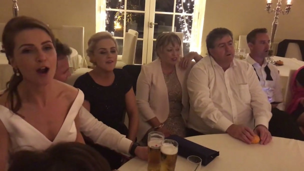 ARCHIVE VIDEO: No Irish wedding is complete without a sing-song at 5am