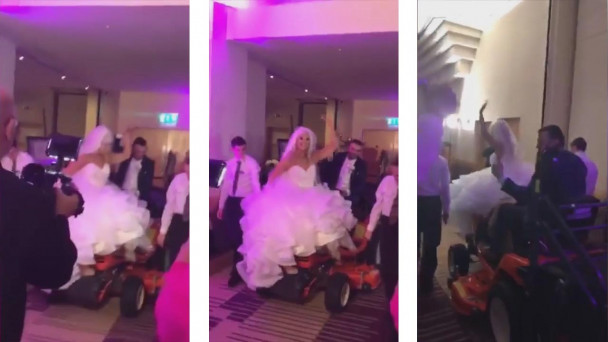 Watch Is This The Best Entrance By Newly Weds Ever Bride And