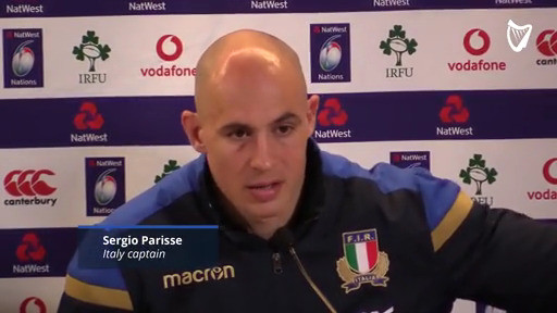 4ae3d06f772390 WATCH: 'I think Ireland play much better rugby than England' - Sergio  Parisse