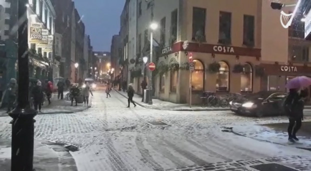 Image result for ireland in the snow dublin
