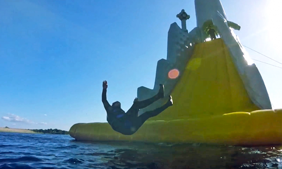 WATCH: The world's tallest floating water slide    and it's in Ireland