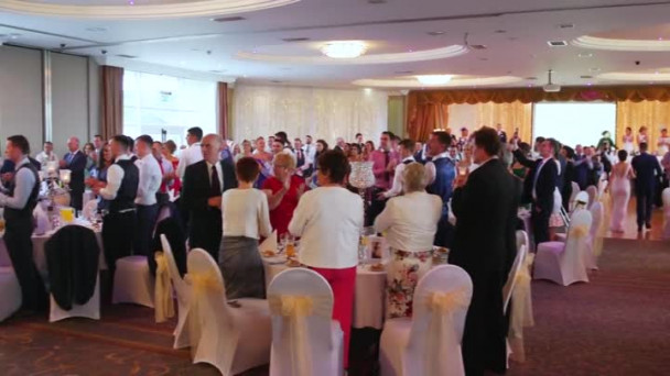 Watch Irish Newlyweds Stun Guests With The Most Elaborate Wedding Entrance