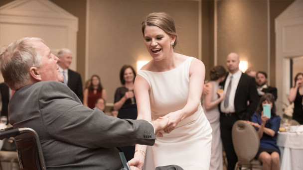 Watch Emotional Moment Bride Dances With Terminally Ill Father At