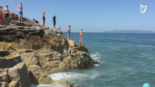 WATCH: Reporter Ian Begley dives into Dublin's Forty Foot, just three hours  after swimming ban is lifted