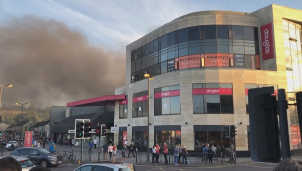 WATCH: Blaze destroys Douglas Shopping Centre car park as firefighters  battle flames